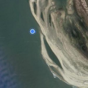 This island is moving like crazy. Google thought I was out in the ocean.